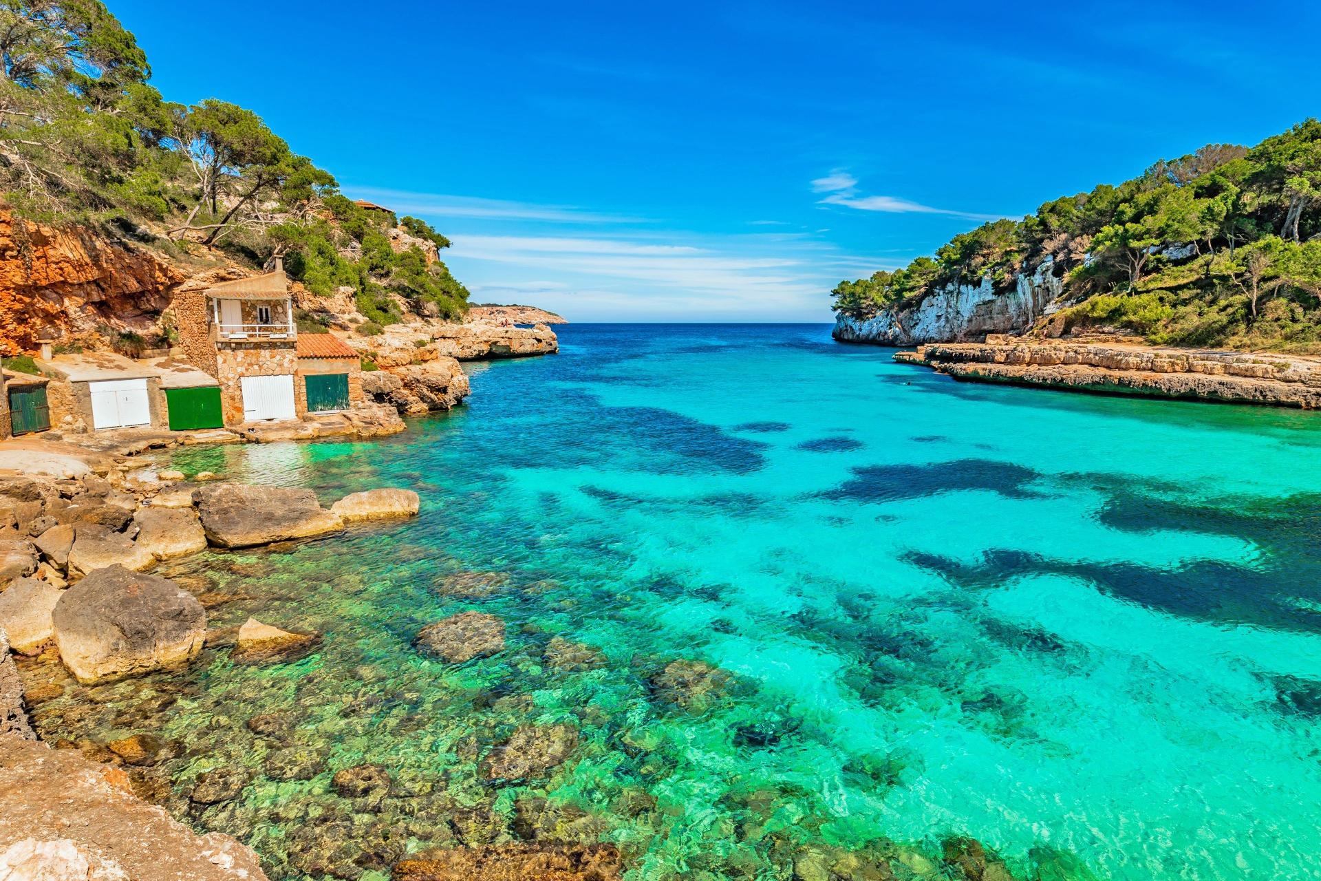 地中海 スペイン マヨルカ島の風景