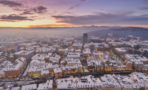 新年のリュブリャナ スロベニアの風景