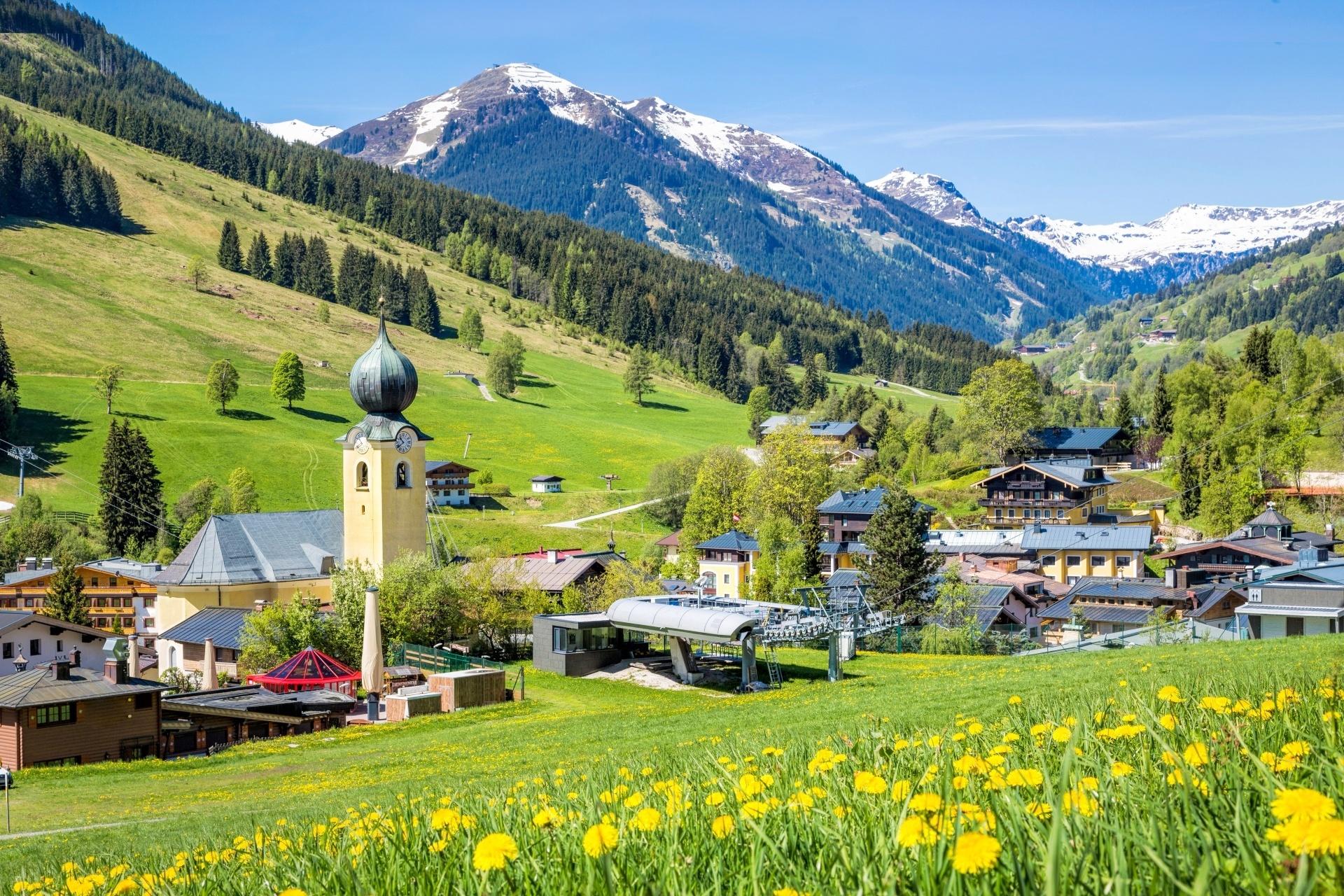 夏のザールバッハ オーストリアの風景