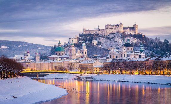 冬のザルツブルク オーストリアの風景