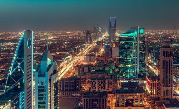 リヤド サウジアラビアの夜景