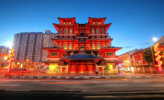 シンガポール仏牙寺龍華院 シンガポールの風景
