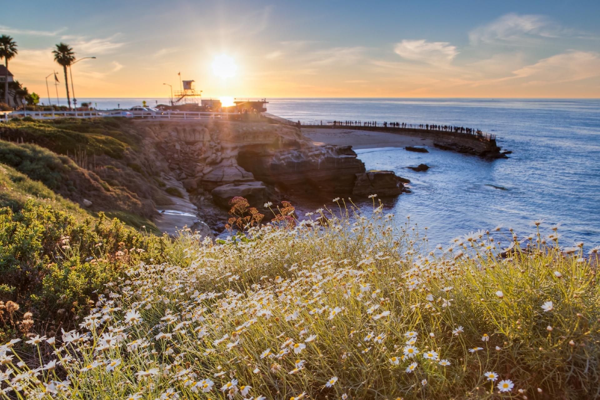 カリフォルニア サンディエゴの夕日