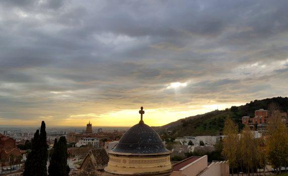 曇りの日のバルセロナ