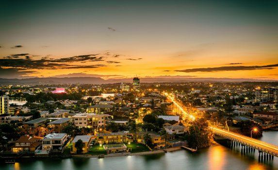 シェブロン島の黄昏 オーストラリアの風景