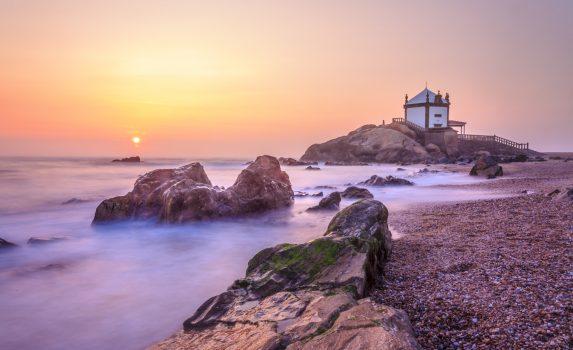ポルトの夕暮れ ポルトガルの風景