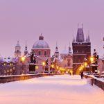 カレル橋と旧市街の風景 プラハ チェコ共和国