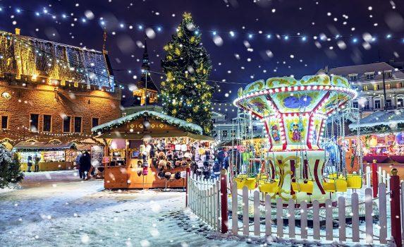 タリンのクリスマス風景 エストニアの風景