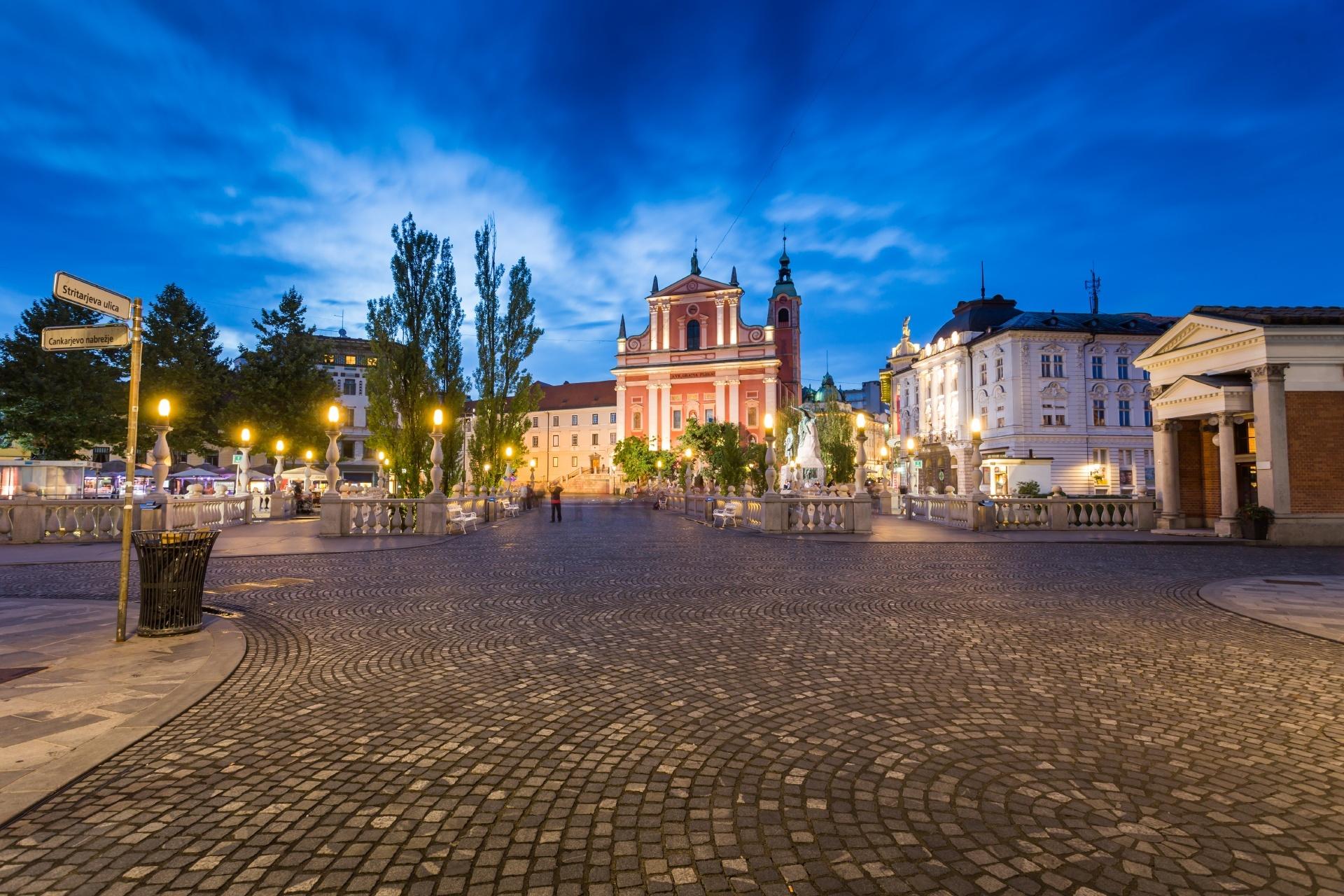 スロベニアの首都リュブリャナの街並み スロベニアの風景