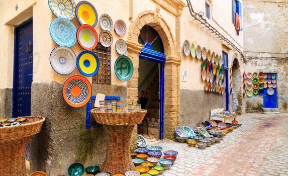 モロッコのストリートマーケットの風景 モロッコの風景