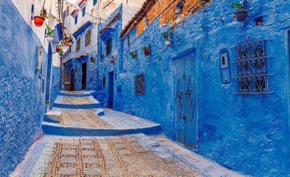 青色の町 シャウエンの風景 モロッコの風景