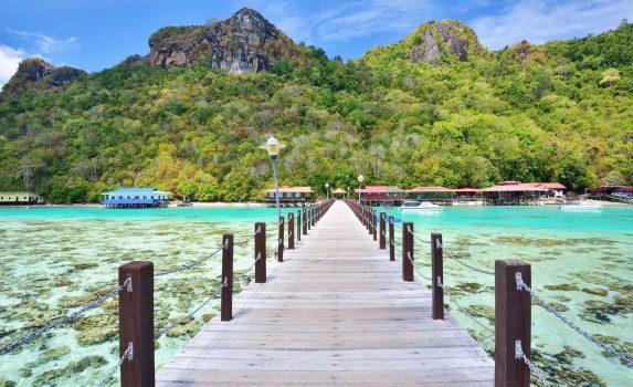 マレーシア サバ州 ボヘイ・ドゥラン島 マレーシアの風景
