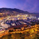 夜のモンテカルロ港 モナコの風景