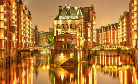 ハンブルグ旧市街シュパイヒャーシュタット ドイツの風景