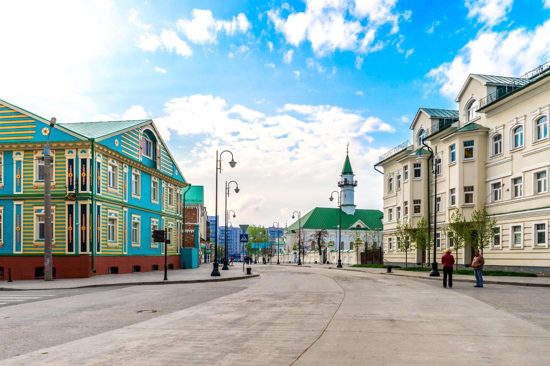 ロシア連邦・タタールスタン共和国の首都カザンの旧タタール・スロボダ