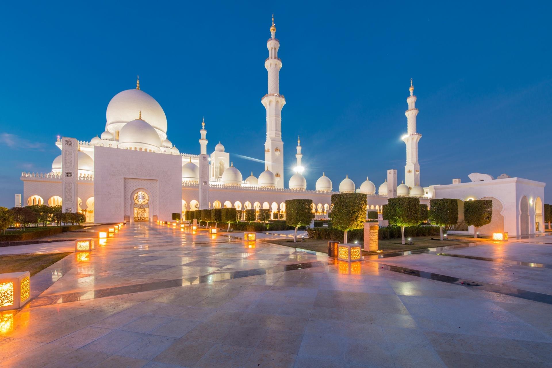 シェイク・ザーイド・モスク アラブ首長国連邦の風景