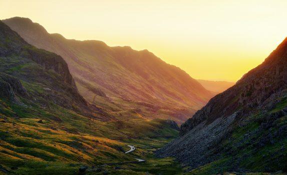 ウェールズ スノードニア国立公園の風景 ウェールズの風景