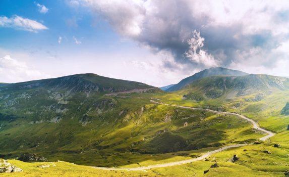 カルパティア山脈の風景 ルーマニアの風景