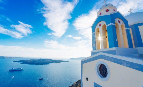 サントリーニの風景 ギリシャの風景