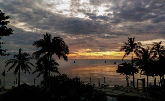 タイ サムイ島の朝の風景 タイの風景