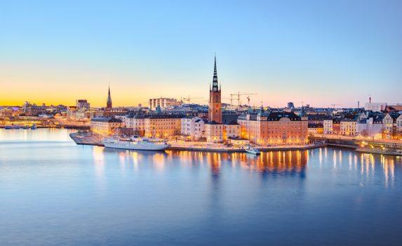 ストックホルム旧市街 夏の夜の風景 スウェーデンの風景