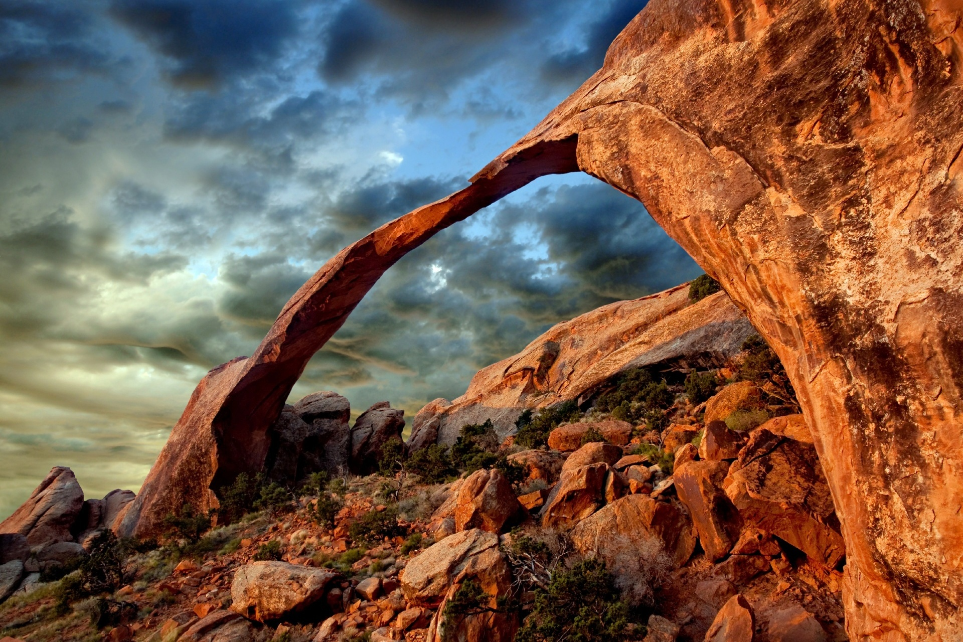 アーチーズ国立公園の風景 アメリカ合衆国ユタ州グランド郡