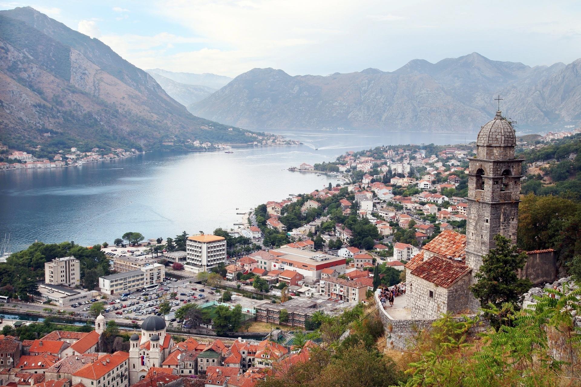 ロブチェン山から見るコトルの町並み モンテネグロの風景