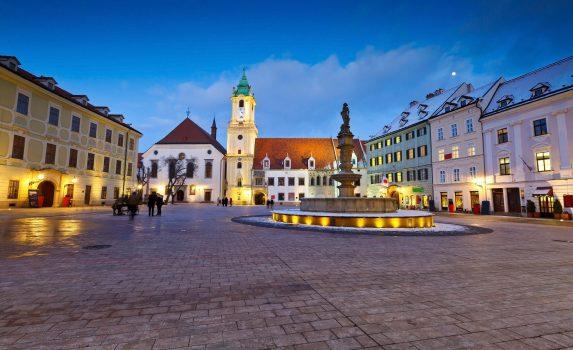 スロバキア ブラチスラバの旧市街の風景 スロバキアの風景