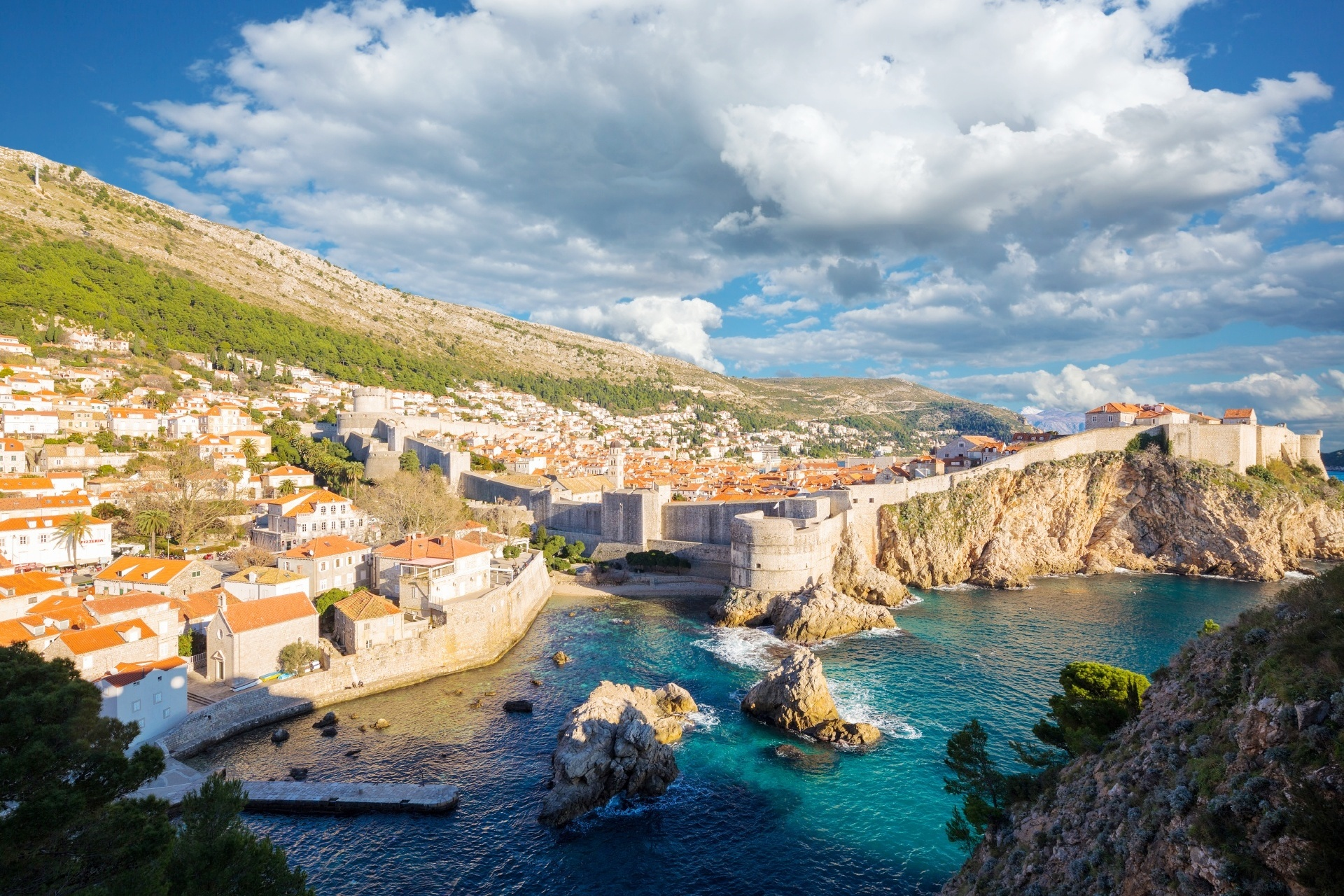 クロアチア ドゥブロヴニクの風景 クロアチアの風景