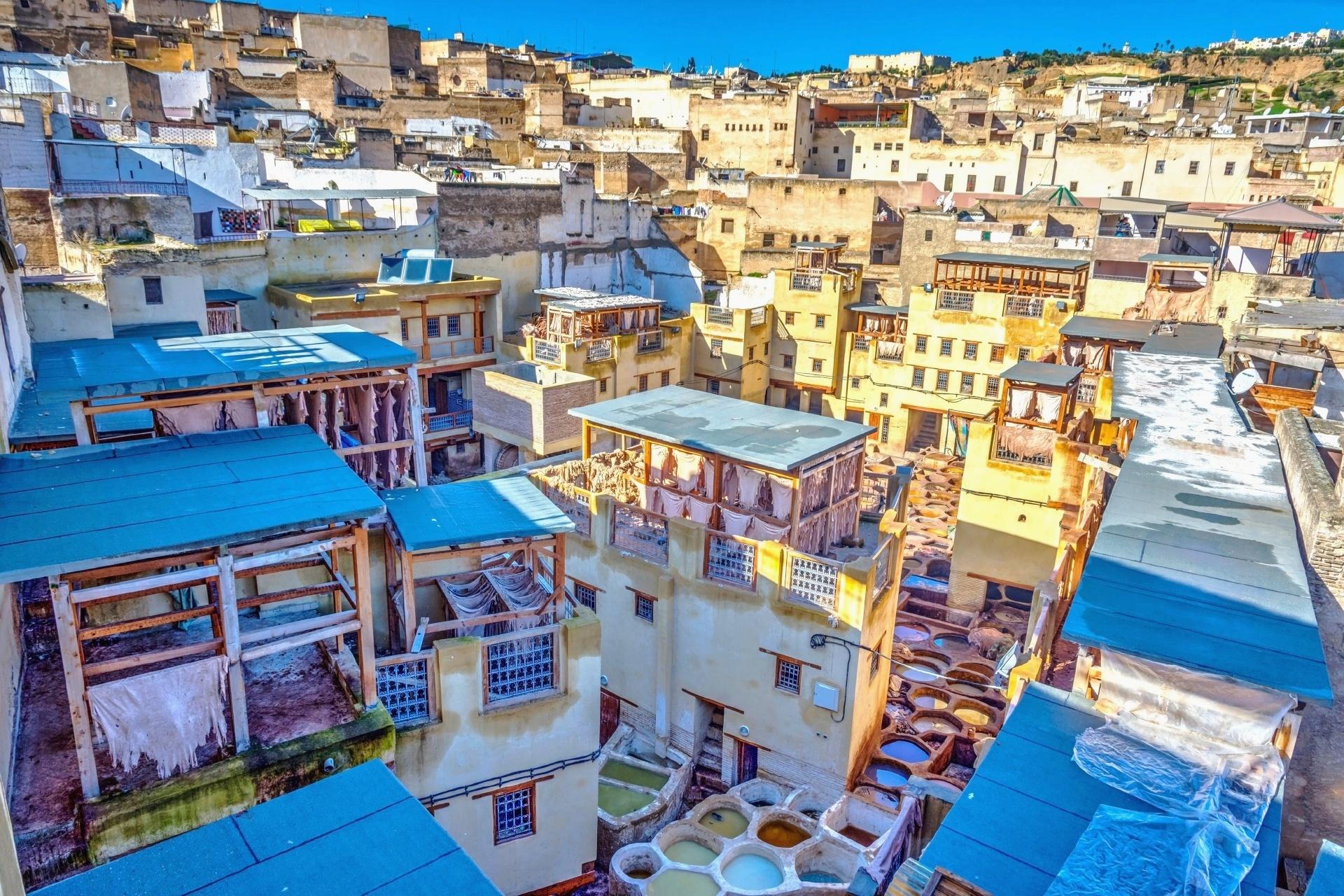 フェズの町並み モロッコの風景