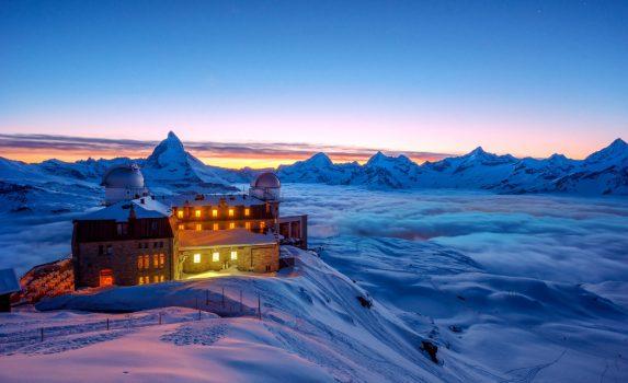 マッターホルンの風景 ツェルマット スイスの風景