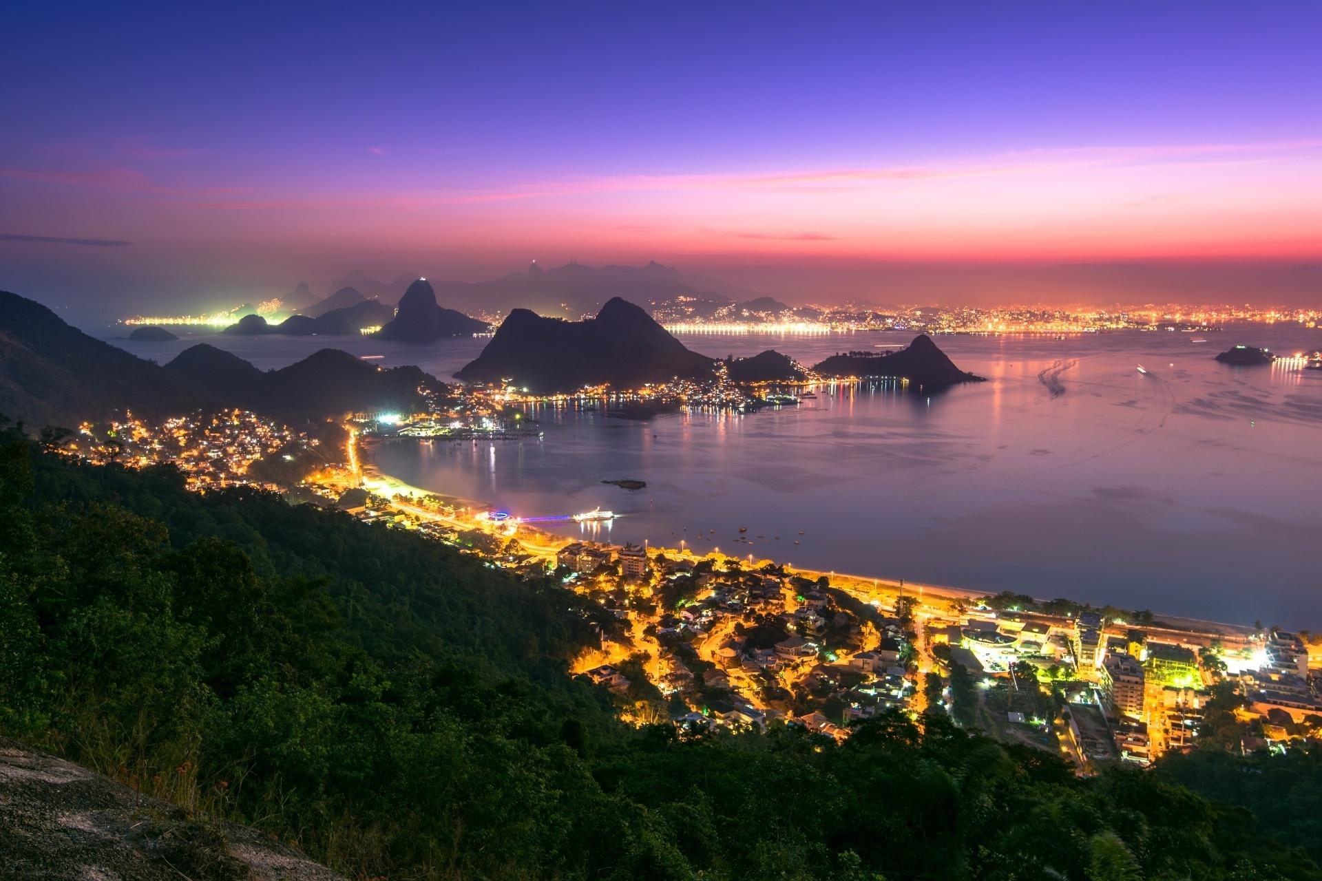 リオデジャネイロの夜景 ブラジルの風景