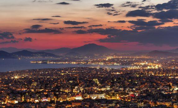 夕暮れのアテネ ギリシャの風景