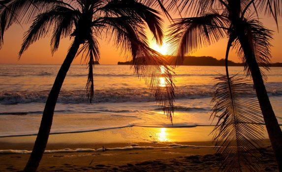 夕暮れの風景 コスタリカの風景