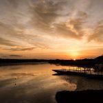 ナイル川の日の出 ウガンダの風景