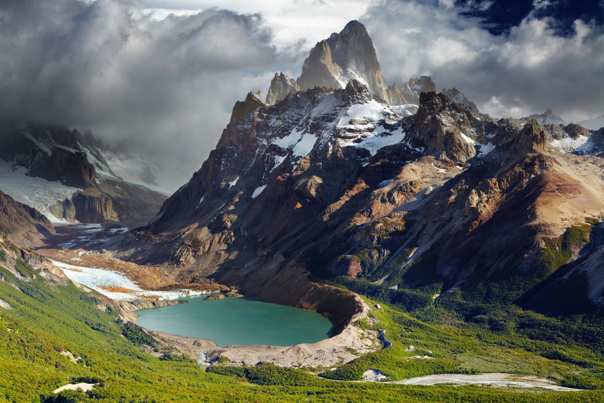 フィッツ・ロイとロス・グラシアレス国立公園 パタゴニアの風景 アルゼンチンの風景