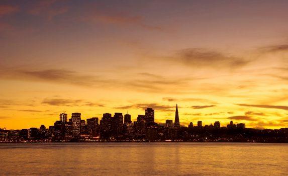 夕暮れのサンフランシスコ アメリカの風景