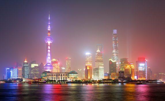 上海夜景 上海の風景 中国の風景