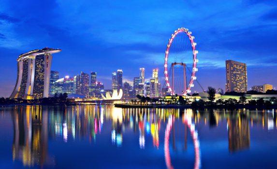 夜のシンガポールの風景 シンガポールの夜景