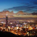 台北101と台北の夜景 台湾の風景