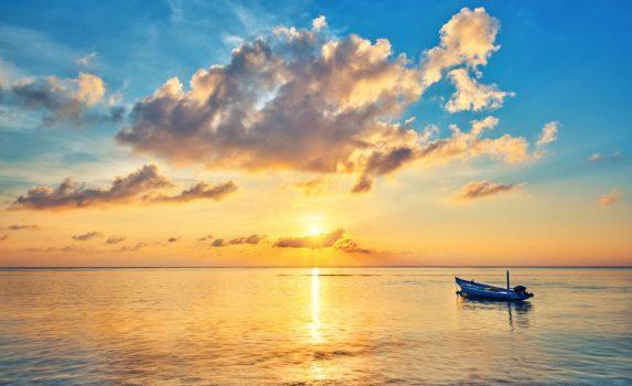 モルディブの朝日