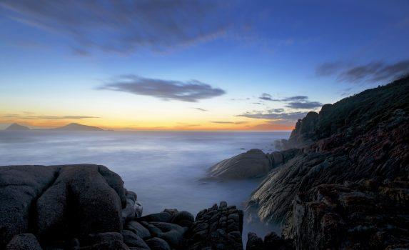 オーストラリア ウィルソンズ・プロモントリー国立公園のトワイライト・タイムの風景