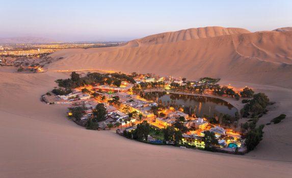 ワカチナ「アメリカのオアシス」 ペルーの風景