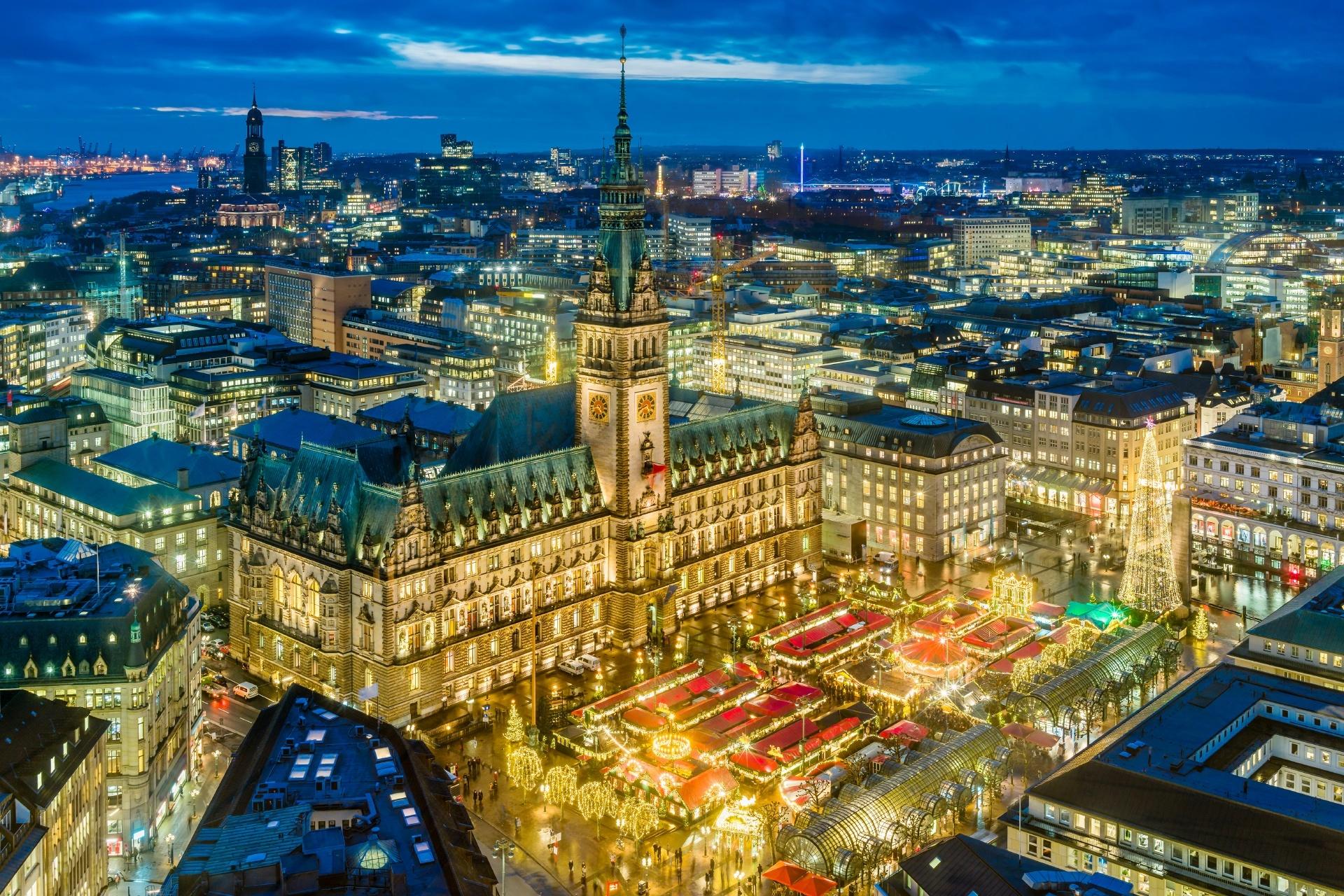 ハンブルクのクリスマス風景 ドイツの風景