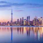 夕暮れのトロントの風景 カナダの風景