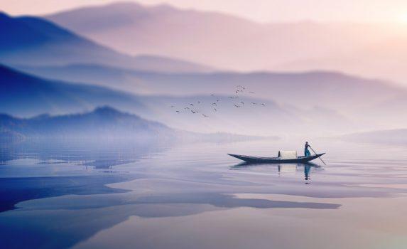 霧の冬の朝 バングラデシュの風景