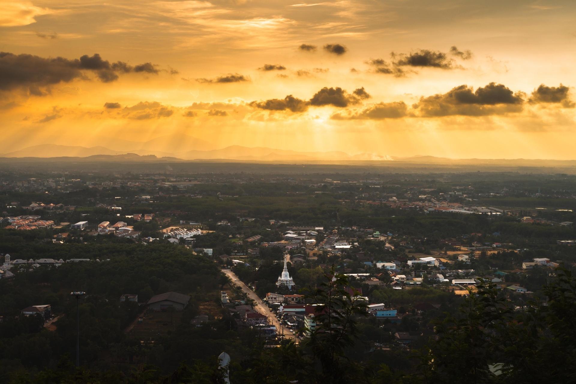 美しい夕暮れの風景 タイの風景