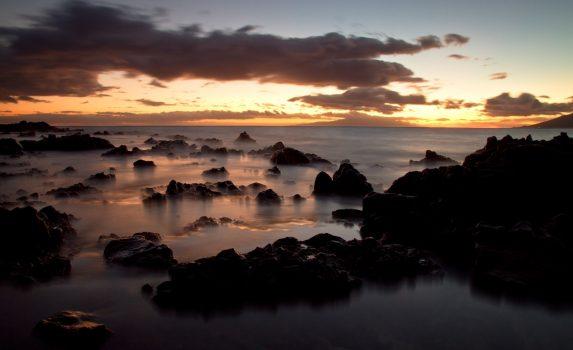 ハワイの夕暮れ ハワイの風景