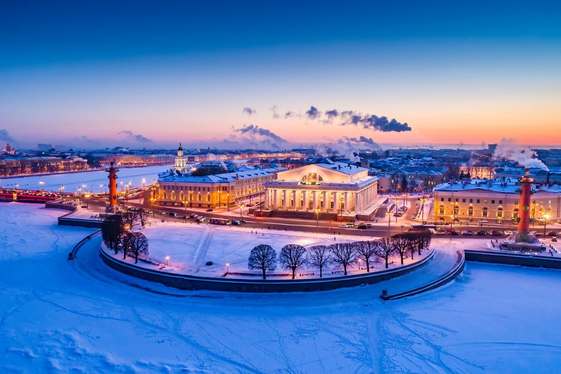 冬のロシア サンクトペテルブルク ロシアの風景