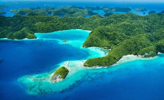 パラオの島々と太平洋の風景 パラオの風景
